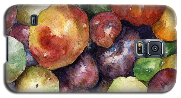 Galaxy S5 Case featuring the painting Bumper Crop Of Heirlooms by Anne Gifford