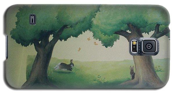 Bunnies Running Under Trees Galaxy S5 Case