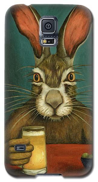 Galaxy S5 Case featuring the painting Bunny Hops by Leah Saulnier The Painting Maniac