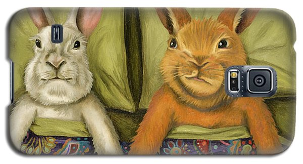 Galaxy S5 Case featuring the painting Bunny Love by Leah Saulnier The Painting Maniac