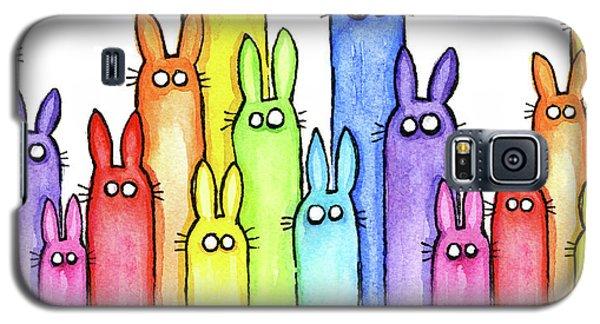Bunny Rainbow Pattern Galaxy S5 Case