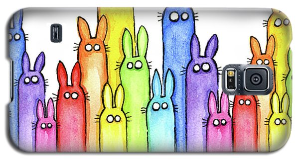 Bunny Rainbow Pattern Galaxy S5 Case by Olga Shvartsur