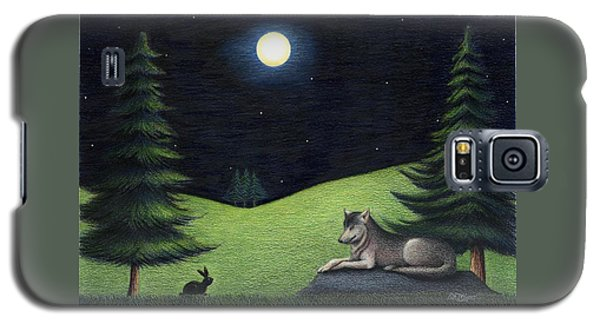 Bunny Visits Wolf Galaxy S5 Case