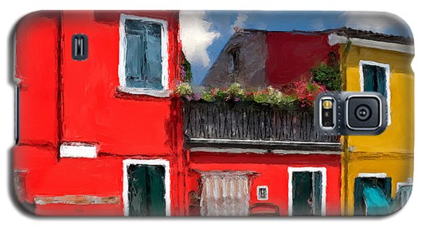 Galaxy S5 Case featuring the photograph Burano Color Houses. by Juan Carlos Ferro Duque