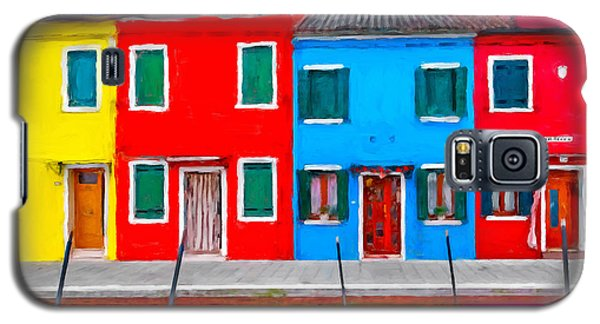 Galaxy S5 Case featuring the photograph Burano Colorful Houses by Juan Carlos Ferro Duque