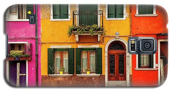 Galaxy S5 Case featuring the photograph Burano Colors by Andrew Soundarajan