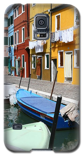 Burano Corner With Laundry Galaxy S5 Case