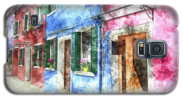 Burano Italy Buildings Galaxy S5 Case