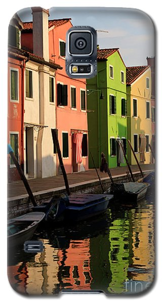 Galaxy S5 Case featuring the photograph Burano Reflections by Dennis Hedberg