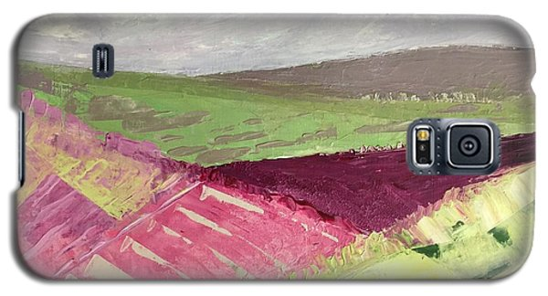 Burgundy Fields Galaxy S5 Case