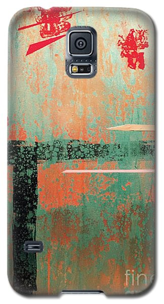 Galaxy S5 Case featuring the painting Buried Cities Beneath by Theresa Kennedy DuPay