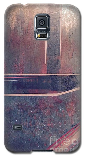 Galaxy S5 Case featuring the painting Buried City Above by Theresa Kennedy DuPay
