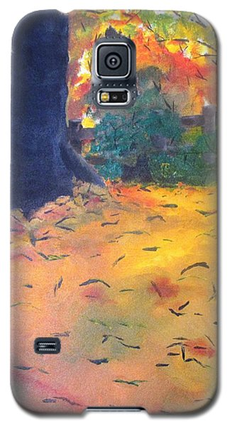 Galaxy S5 Case featuring the painting Buried In Autumn Leaves by Gary Smith
