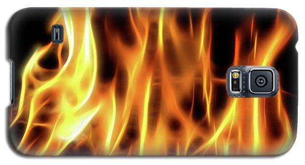 Burning Flames Fractal Galaxy S5 Case
