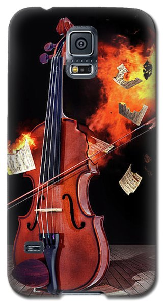 Burning With Music Galaxy S5 Case