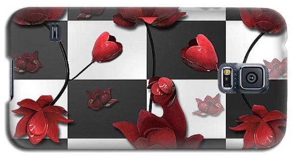 Burnt Crimson Flora Galaxy S5 Case