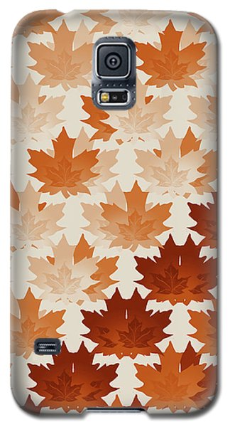 Galaxy S5 Case featuring the digital art Burnt Sienna Autumn Leaves by Methune Hively