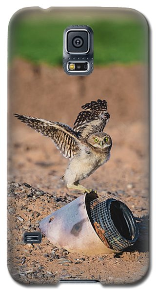 Burrowing Owlet Stretching His Wings Galaxy S5 Case