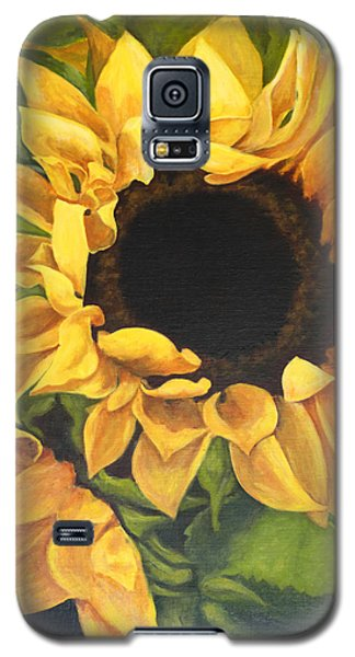 Burst Of Sunflowers Galaxy S5 Case by Sandra Nardone