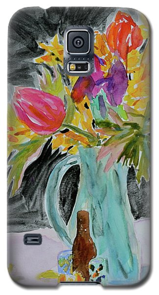 Galaxy S5 Case featuring the painting Bursting Bouquet by Beverley Harper Tinsley