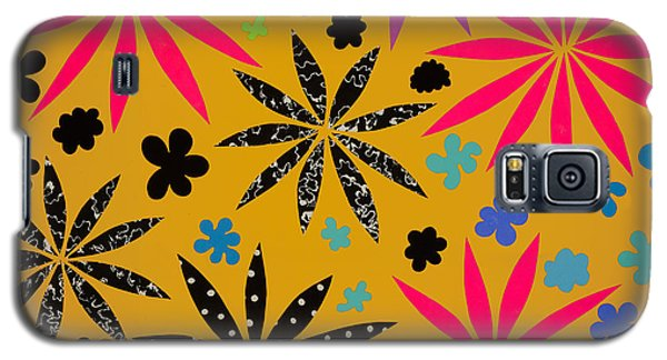 Galaxy S5 Case featuring the mixed media Bursting Open by Gloria Rothrock