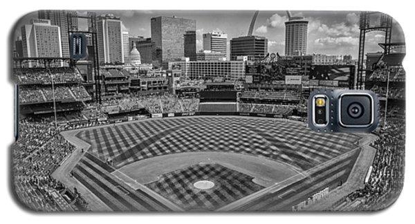 Busch Stadium St. Louis Cardinals Black White Ballpark Village Galaxy S5 Case