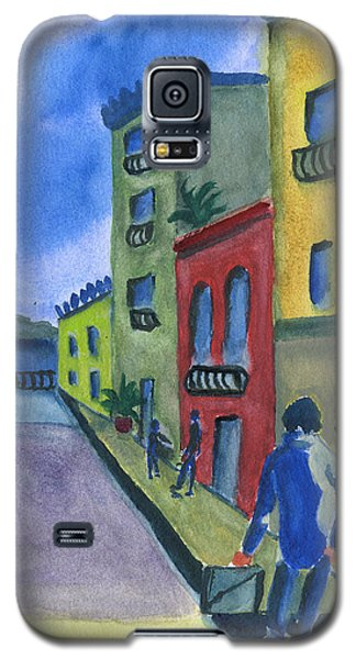 Business In Old San Juan Galaxy S5 Case by Frank Bright