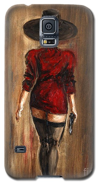 Galaxy S5 Case featuring the painting Business Lady by Arturas Slapsys