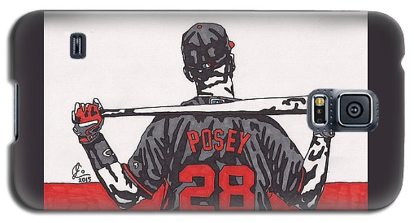 Buster Posey Galaxy S5 Case by Jeremiah Colley