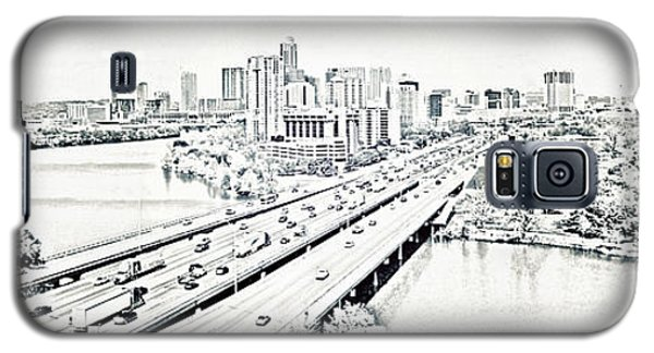 Galaxy S5 Case featuring the digital art Busy Austin In Stamp by James Granberry