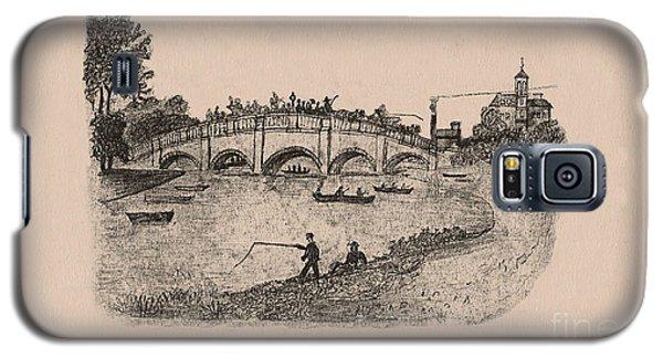 Busy Richmond Bridge And Fishermen Galaxy S5 Case