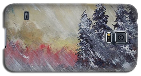 Galaxy S5 Case featuring the painting But The Weather Man Said.... by Dan Whittemore