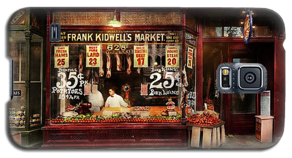 Galaxy S5 Case featuring the photograph Butcher - Meat Priced Right 1916 by Mike Savad