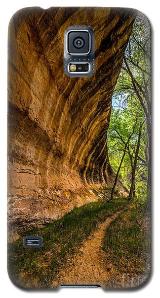 Galaxy S5 Case featuring the photograph Butler Wash Wave Formation - Blanding - Utah by Gary Whitton