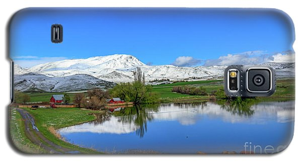 Galaxy S5 Case featuring the photograph Butte Farm After Spring Snow by Robert Bales