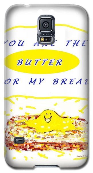 Galaxy S5 Case featuring the drawing Butter For My Bread by Denise Fulmer