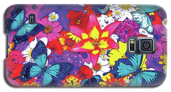 Fairy Galaxy S5 Case - Butterflies And Flowers by JQ Licensing