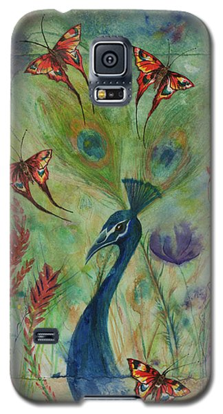 Butterflies And Peacock Galaxy S5 Case