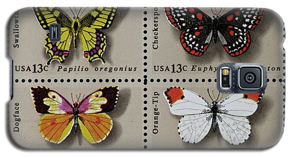 Butterflies Postage Stamp Print Galaxy S5 Case by Andy Prendy