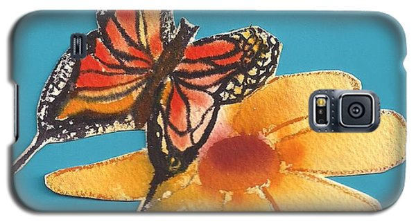 Galaxy S5 Case featuring the painting Butterflower by Denise Fulmer