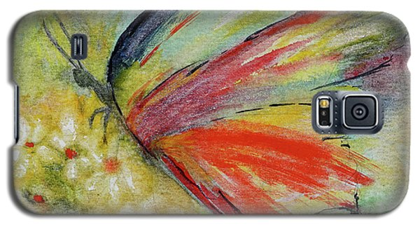 Galaxy S5 Case featuring the painting Butterfly 3 by Karen Fleschler