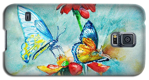Galaxy S5 Case featuring the painting Butterfly Dance by Jasna Dragun