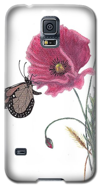 Galaxy S5 Case featuring the painting Butterfly Dreaming by Stanza Widen