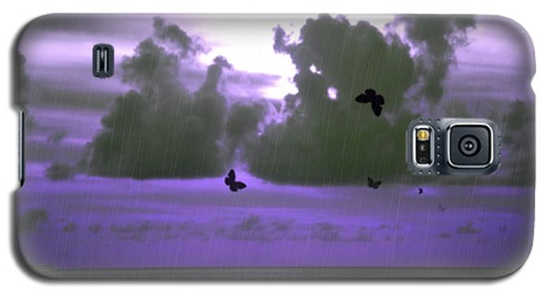 Butterfly Dreams And A Purple Sky Galaxy S5 Case by Rosalie Scanlon