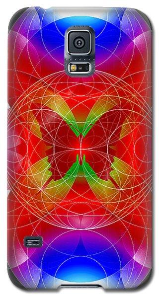 Galaxy S5 Case featuring the digital art Butterfly Effect by Iowan Stone-Flowers