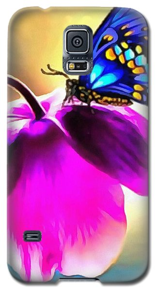 Galaxy S5 Case featuring the painting Butterfly Floral by Catherine Lott