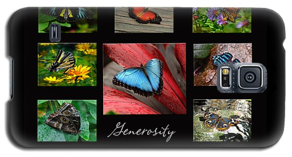 Galaxy S5 Case featuring the photograph Butterfly Generosity Collage by Diane E Berry