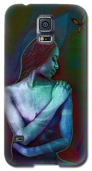 Galaxy S5 Case featuring the digital art Butterfly Hearts II by AC Williams