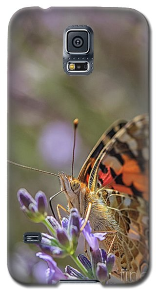 Galaxy S5 Case featuring the photograph Butterfly In Close Up by Patricia Hofmeester