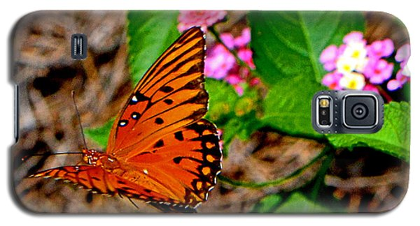Galaxy S5 Case featuring the photograph Butterfly In Flight 002 by George Bostian